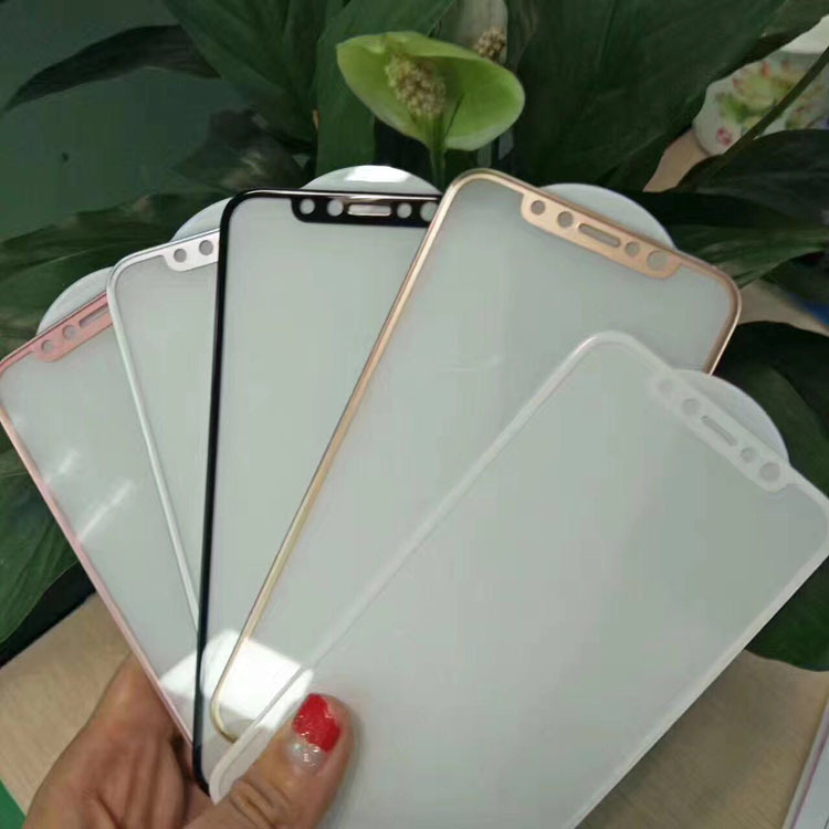 Hight Quality 4D Full Cover Transparent Mobile Phone Tempered Glass Screen Protector for iPhone 8