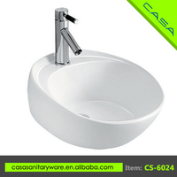 High end school ceramic above counter art bathroom solid surface wash sinks