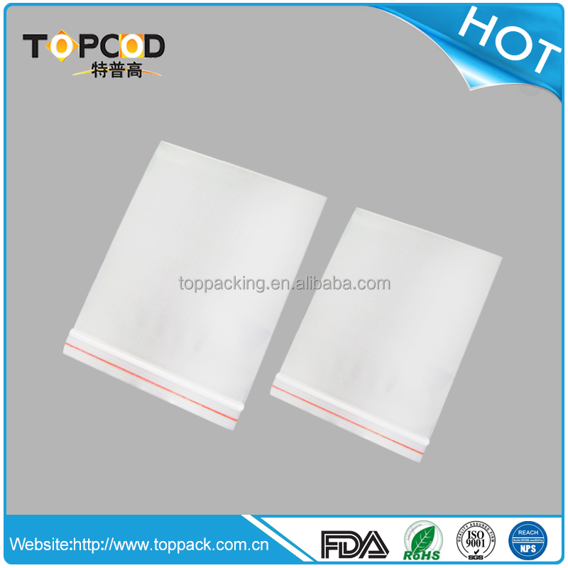 Factory direct sales food and medical grade clear plastic zipper bag