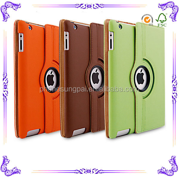 Flip 360 degree rotate for ipad case super slim case for ipad