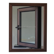 Wood Timber Grain Thermal Break UPVC OR Aluminum Windows Sliding Aluminium Window And Door Aluminum Windows Prices in Morocco