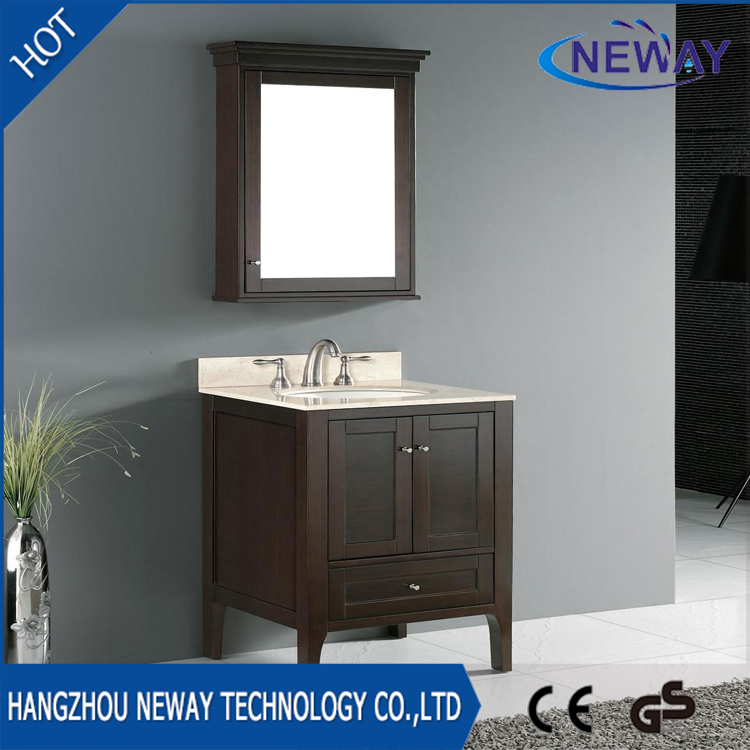 High quality solid wood small bathroom vanity units