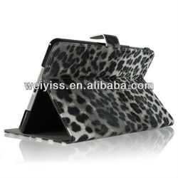 Leopard Animal Print Premium PU Leather Wallet Case for Mini iPad
