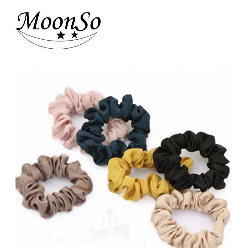 Free Sample 2016 NEW Hair Accessories Women Pure Color Elastic Hair Band Hair Rope Jewelry MoonSo AH2539