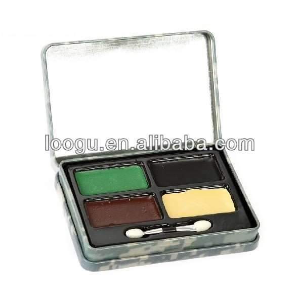Military Wargame Four Colors Paint Face Camo Skin Oil