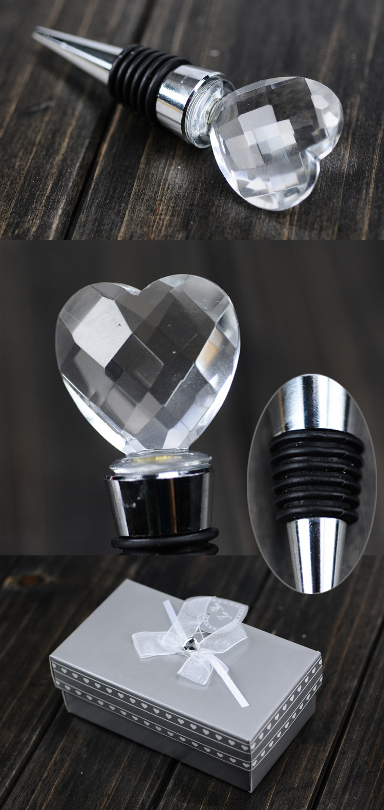 customize crystal wine bottle stopper new design