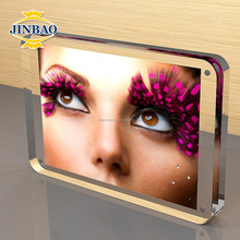 JINBAO transparent high quality women sex double sided acrylic photo frame with magnets