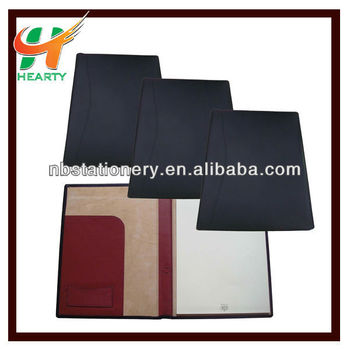 Genuine leather A4 portfolio file folder
