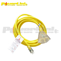 S50033 2 ft. 12/3 STW Extension Cord with 3 Outlet Lighted Power Block - Yellow