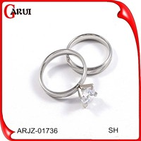 Newest design AAA cubic zircon white gold plated Rings for women