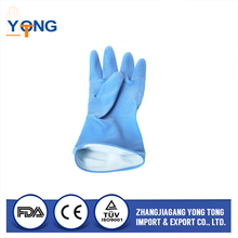 high density pvc material unlined red household gloves for medical use