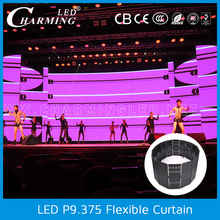 High brightness outdoor video flexible led curtain for building decoration