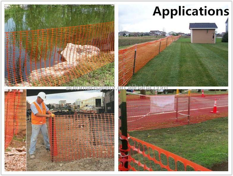 Plastic orange safety fence netting barrier fencing mesh