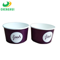 New violet ice cream paper cup single wall logo printed disposable paper bowls