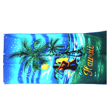 outdoor usage advertising 100% cotton velour reactive printing 70x140cm custom beach towel,promotion square bath towel