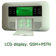 wireless gsm alarm system with pstn burglar alarm panel