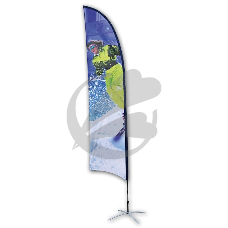 2017 100% Polyester 250x100cm Colorful Advertising Beach Flag