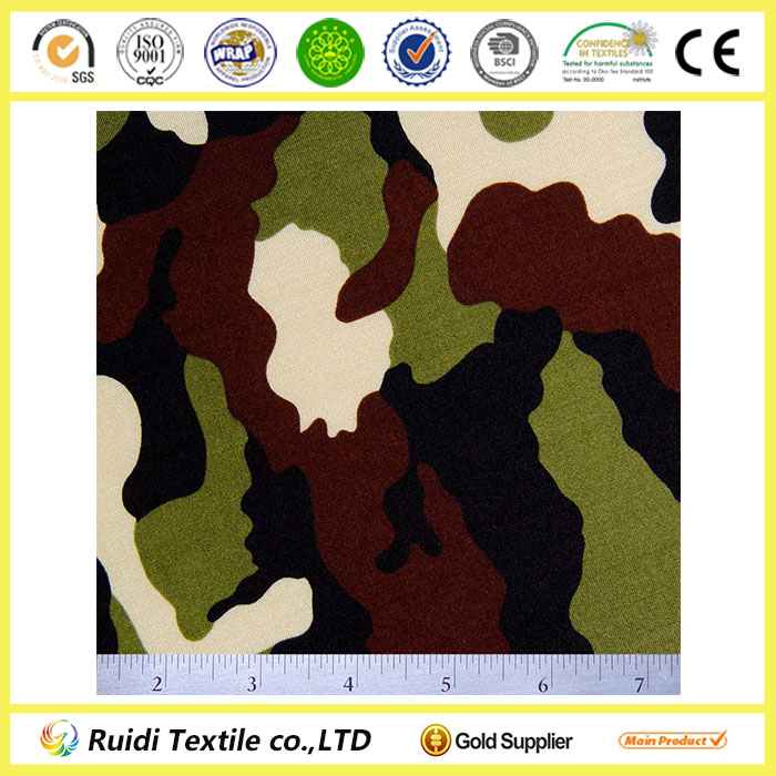 80% Polyester 20% Spandex Camouflage Print Fabric