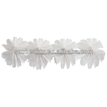 flower garland for wedding purple paper garland party decorations