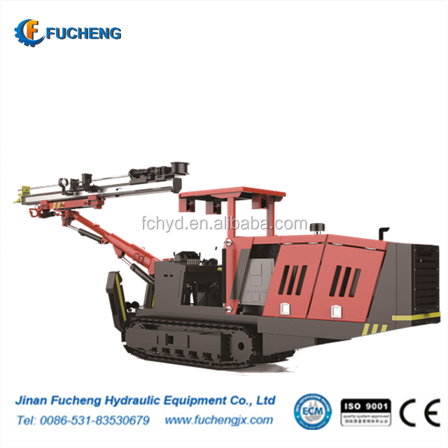 Underground Wheel Single Boom Face Drilling Rig for Rock Blasting Hole Drilling