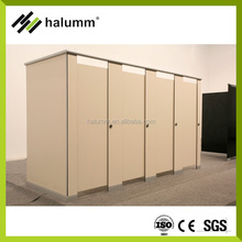 Public toilet partition 12mm HPL toilet cubicle aluminum stainless steel