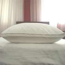 feather pillow with fitted sheet