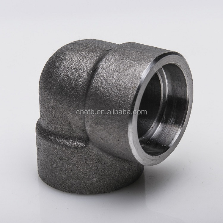 Forged A105 carbon steel 3000LBs pipe fittings socket welded elbow fittings