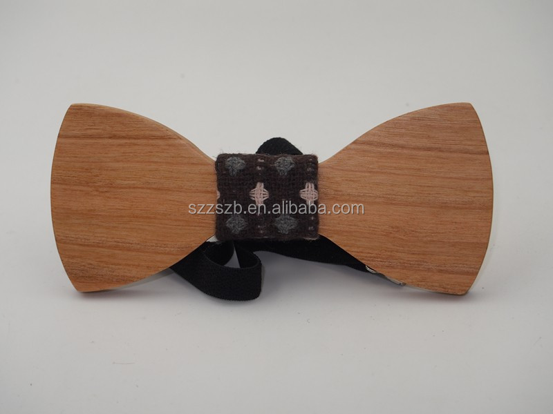 Natural wooden bow tie classic wholesale bow tie 2017 new product