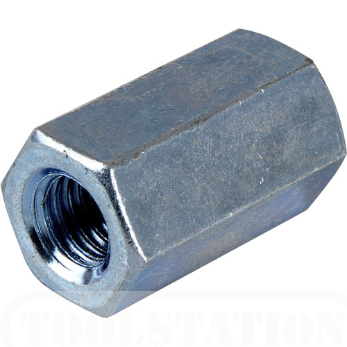 DIN 6334 Hex Coupling Nuts / Extension Nuts made of steel, stainless steel or brass etc
