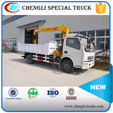 3.5tons loading 3 arms 4*2 6 wheel dongfeng crane truck