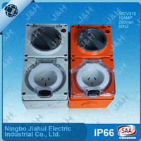 single phase 3flat pin 10 amp industrial switched socket, as/nzs 250V low voltage combination switch socket outlet