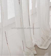 Fancy sheer curtain embroidered sheer voile curtain fabric