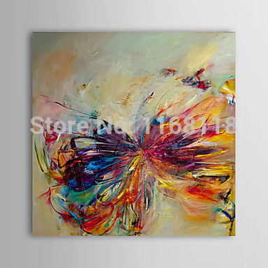 100% Hand Painted Oil Painting Abstract Butterfly Modern Canvas Art 40x40cm