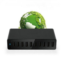 5v 10a Multiple USB Charger Station 50W USB AC Charger Adapter 10 port Desktop HUB For Multiple Devices