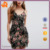 Small Quantity Woman's Fashion Hot Sale Floral Printed Bodycon Dress