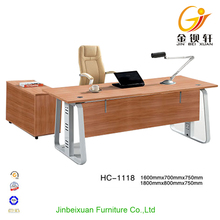 High Tech Executive L Shaped Office Desk Wood Manager Table HC-1118