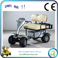 Old people use low speed utility golf car which battery can be taken out for charging