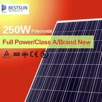 A Grade Photovoltaic 250W Poly Solar Panels with IEC Certification for Roof Solar System or Power Plant
