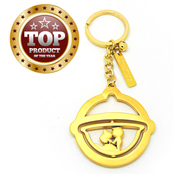 custom promotional cheap metal zinc alloy christmas bell key chain