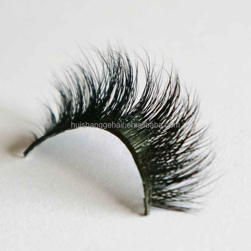 1 pair Handmade Makeup Fake Eyelashes natural long siberian mink fur false eyelash beauty eyelashes