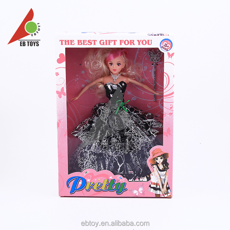 Best gift for children collect dolls toy with luxurious dress beauty doll