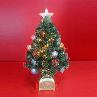 Pre-decorated Small Fiber Optic Christmas Trees