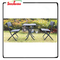 3pcs outdoor rattan folding bistro set, folding table chair furniture set