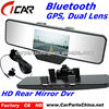 bluetooth g-sensor 2 camera 720p h.264 gps car driving recorder dvr