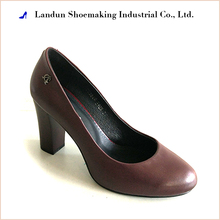 Comfortable high heel leather office lady dress shoes
