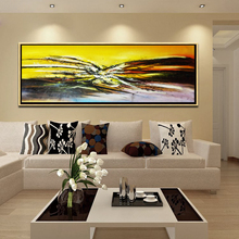 100% original furniture decor Canvas Abstract Oil Painting for bedroom