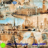 Plus P New Mediterranean Style Designer Interior Decor Vinyl Wallpaper