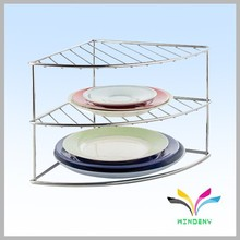 Good quality custom stainless steel floor stand dish display rack