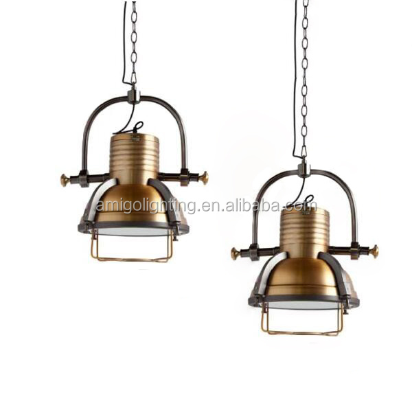 hot seller vintage brass pendant <strong>light</strong> YP804-HB