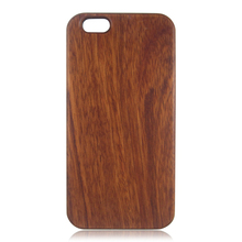 PC bottom wooden phone cover custom logo back shell natural wood case for iPhone 6